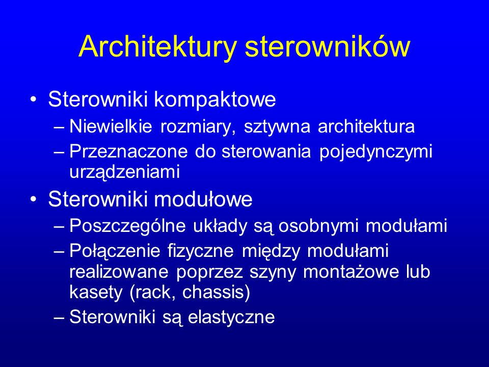 Architektury sterowników