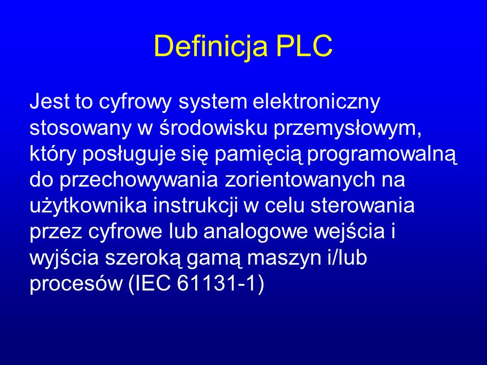 Definicja PLC