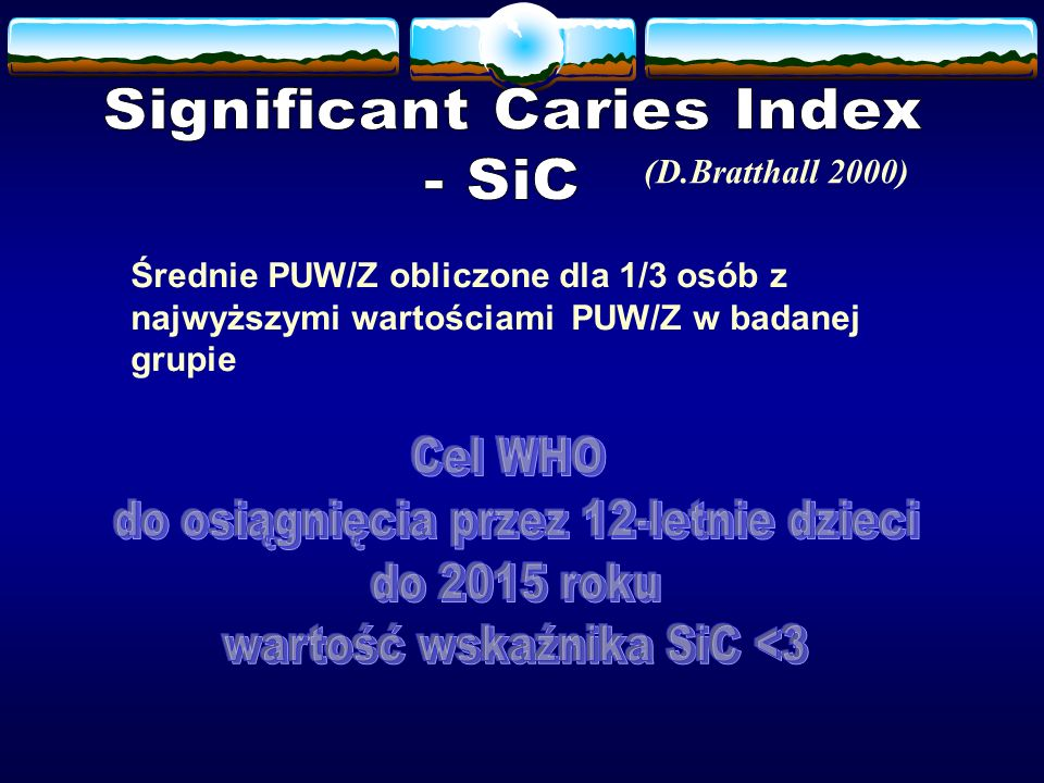 Significant Caries Index - SiC