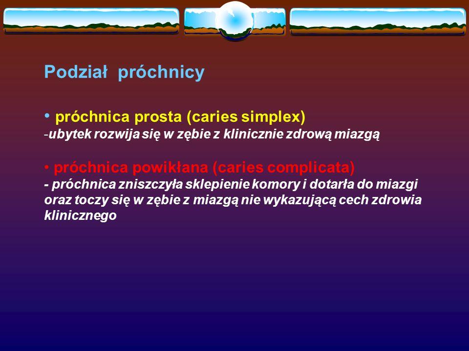 próchnica prosta (caries simplex)