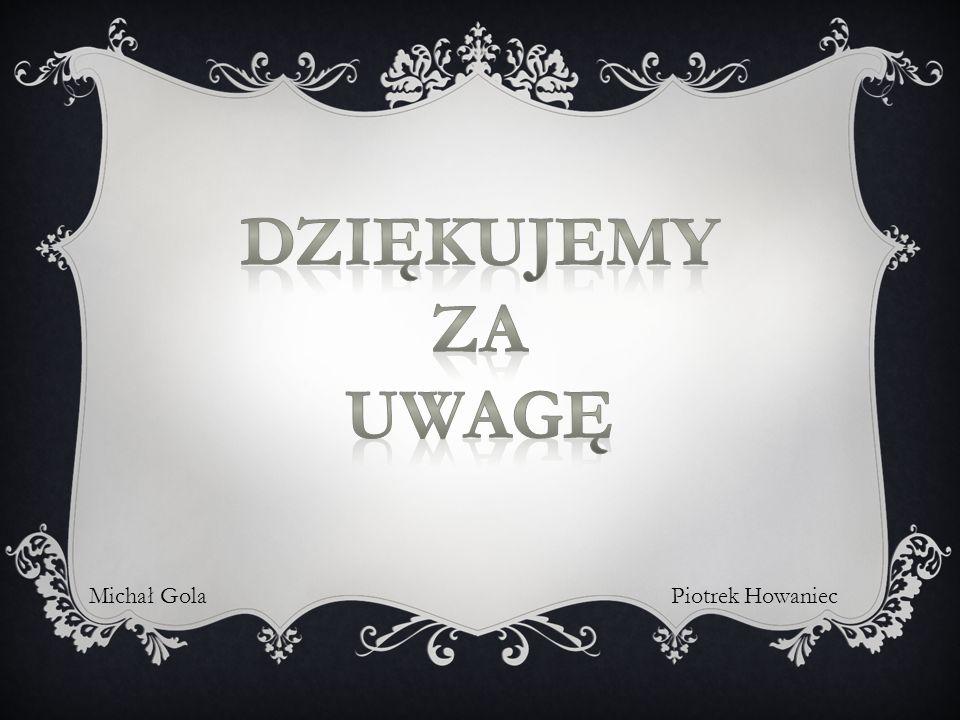 Dziękujemy Za uwagę Michał Gola Piotrek Howaniec