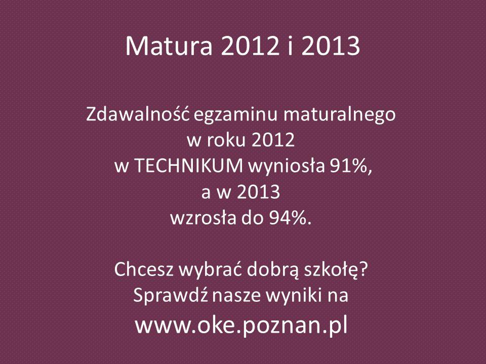 Chcesz wybrać dobrą szkołę Sprawdź nasze wyniki na www.oke.poznan.pl