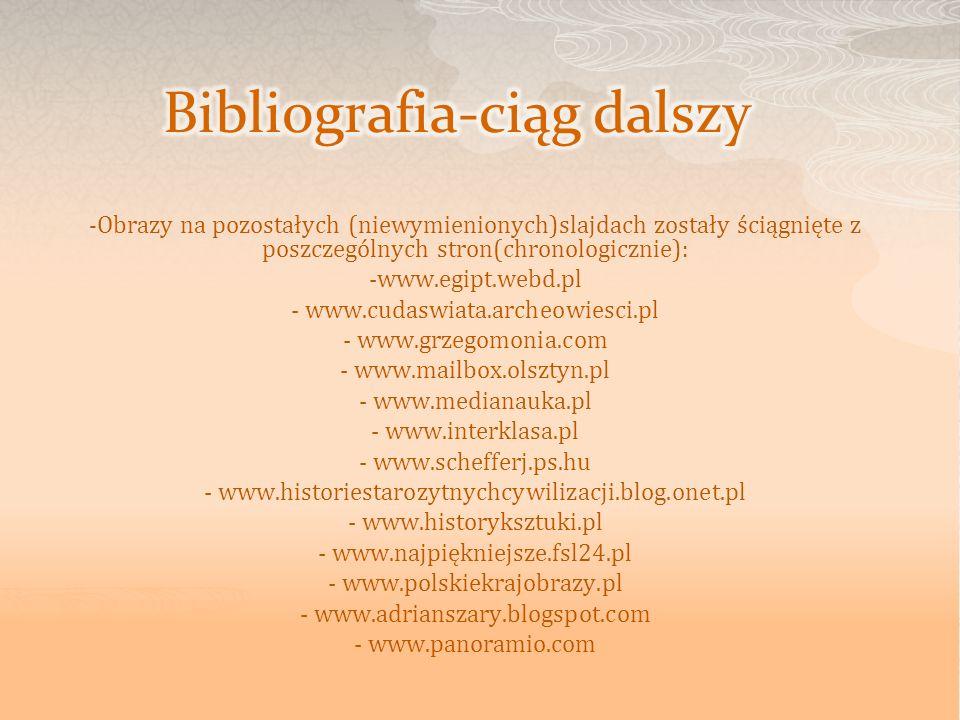 Bibliografia-ciąg dalszy