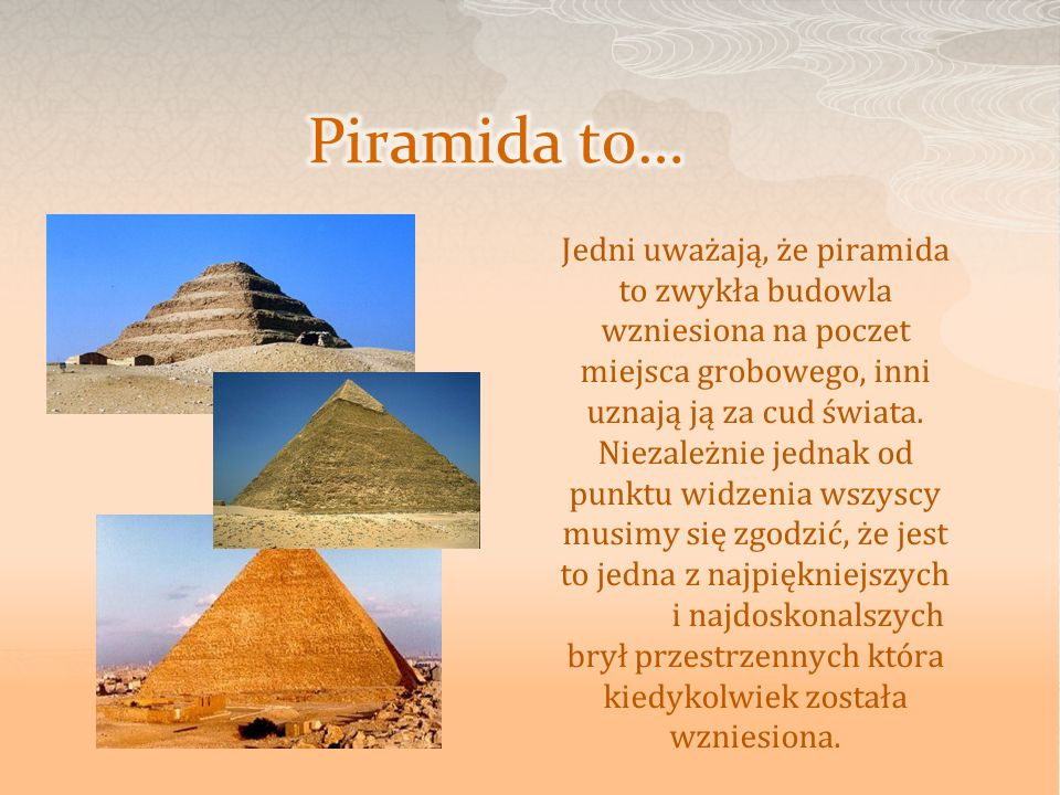 Piramida to…
