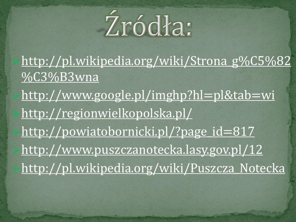 Źródła: http://pl.wikipedia.org/wiki/Strona_g%C5%82 %C3%B3wna