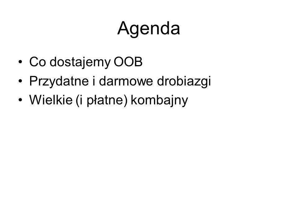 Agenda Co dostajemy OOB Przydatne i darmowe drobiazgi