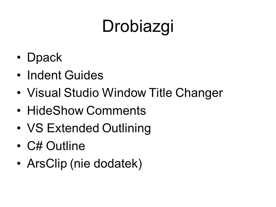 Drobiazgi Dpack Indent Guides Visual Studio Window Title Changer
