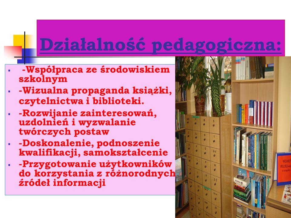 Działalność pedagogiczna: