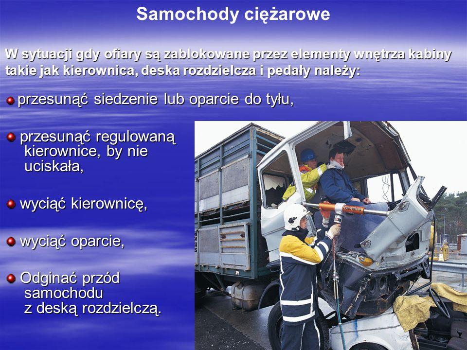 Samochody ciężarowe przesunąć regulowaną kierownice, by nie uciskała,