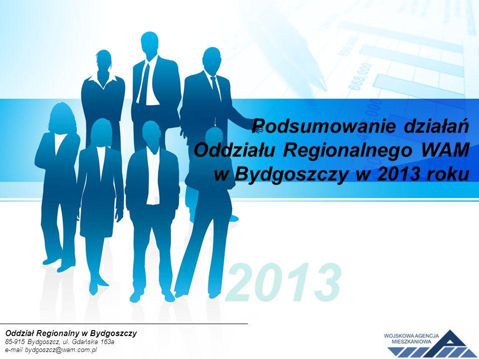 Podsumowanie działań Oddziału Regionalnego WAM w Bydgoszczy w 2013 roku 2013