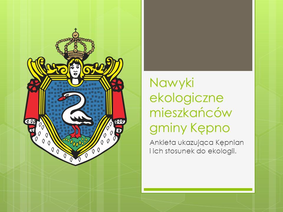 Nawyki ekologiczne mieszkańców gminy Kępno
