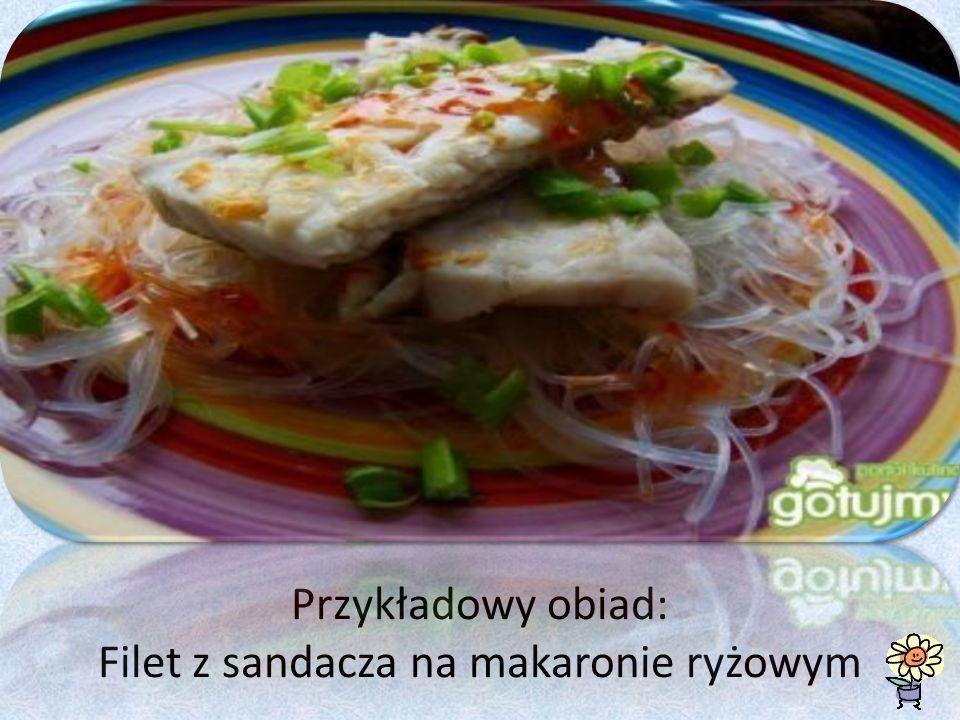 Przykładowy obiad: Filet z sandacza na makaronie ryżowym