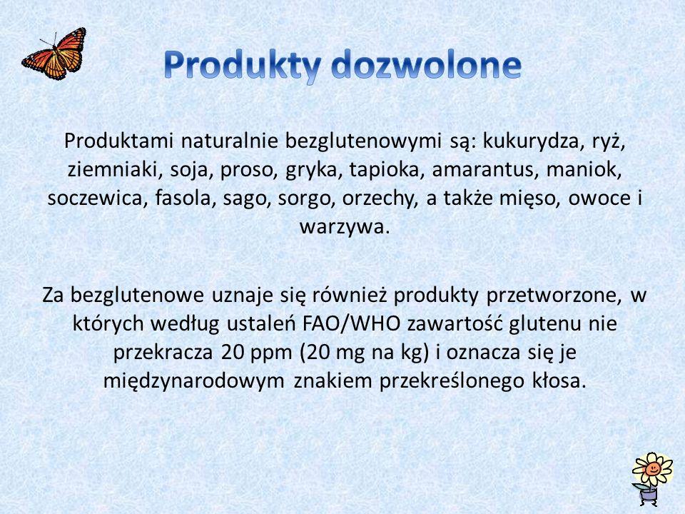 Produkty dozwolone