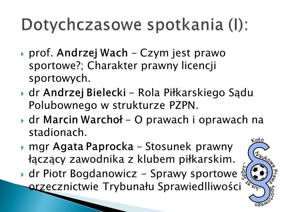 prof. Andrzej Wach - Czym jest prawo sportowe