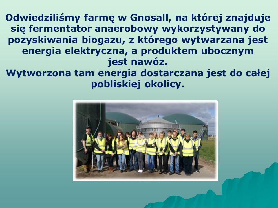Wytworzona tam energia dostarczana jest do całej pobliskiej okolicy.