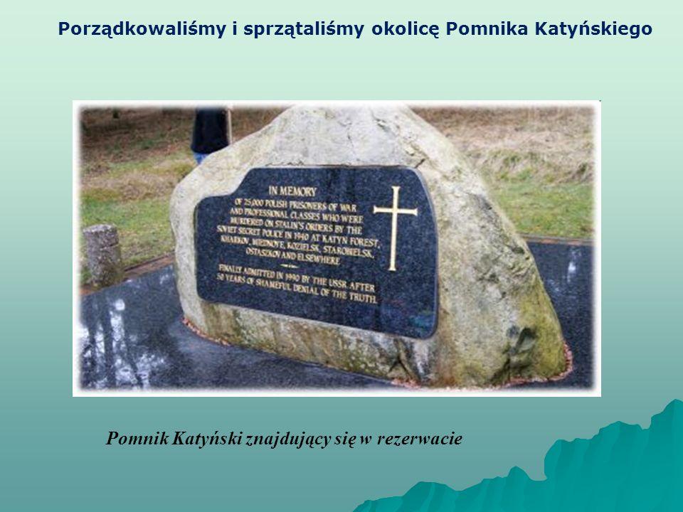 Pomnik Katyński znajdujący się w rezerwacie