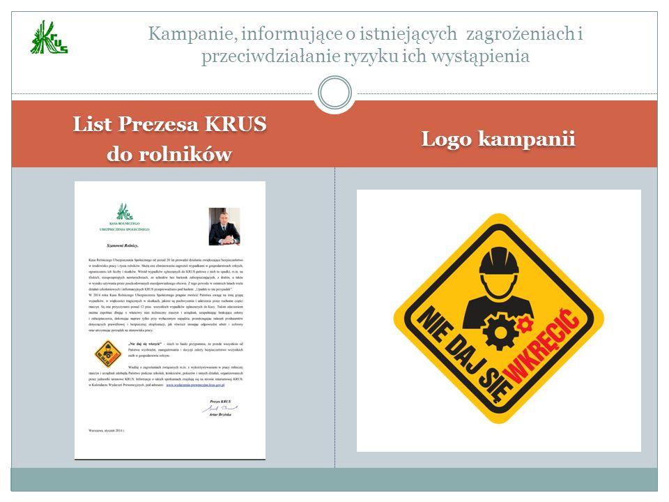 List Prezesa KRUS do rolników Logo kampanii