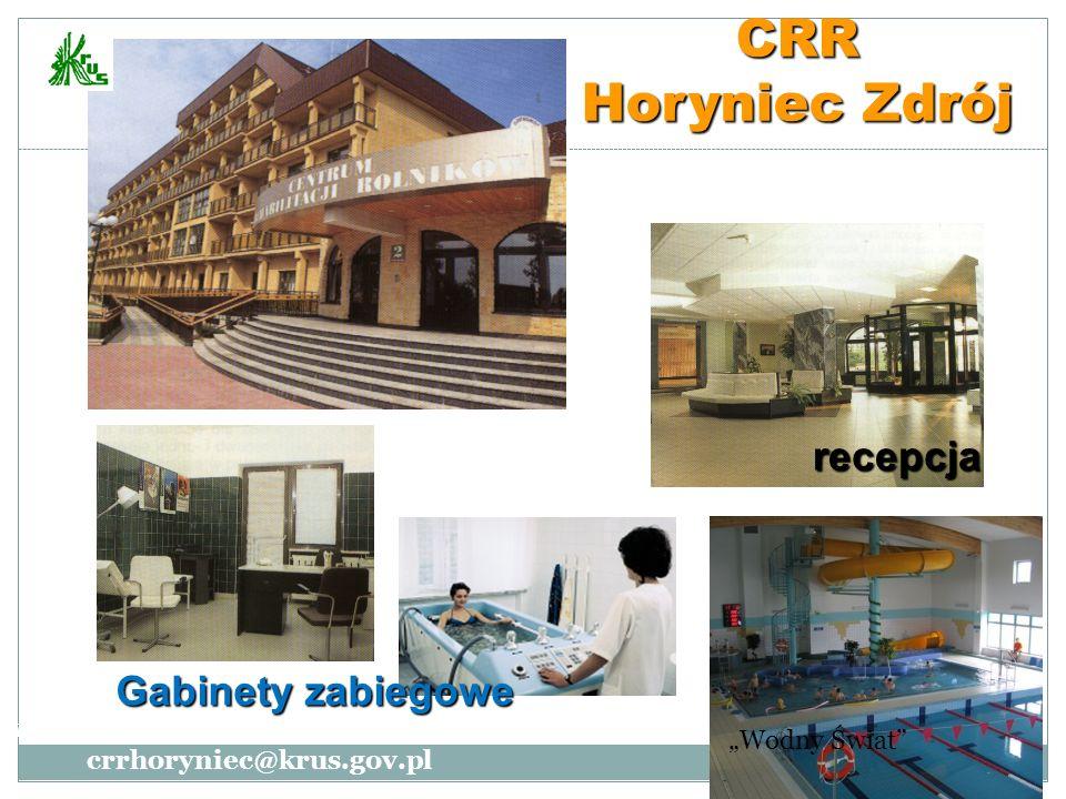 CRR Horyniec Zdrój recepcja Gabinety zabiegowe www.crr-horyniec.pl