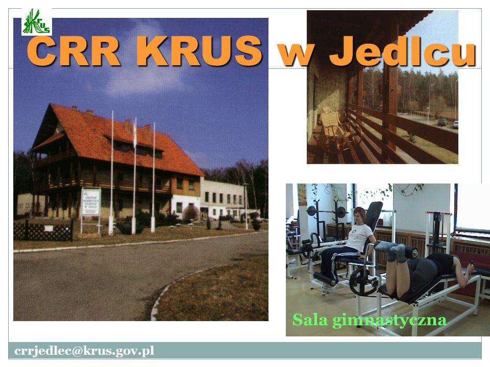 CRR KRUS w Jedlcu Sala gimnastyczna crrjedlec@krus.gov.pl