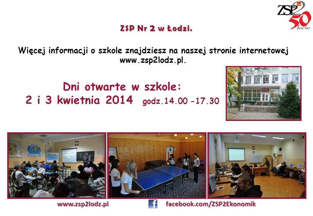 www.zsp2lodz.pl facebook.com/ZSP2Ekonomik