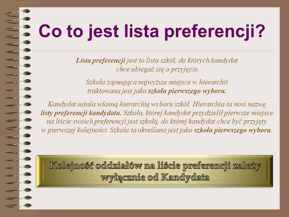 Co to jest lista preferencji