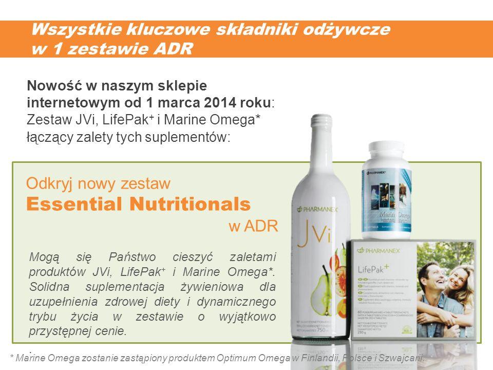 Wszystkie kluczowe składniki odżywcze w 1 zestawie ADR