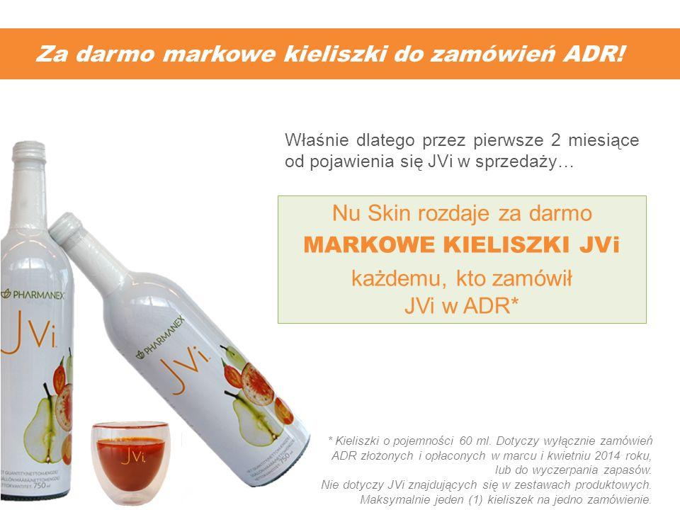 Za darmo markowe kieliszki do zamówień ADR!