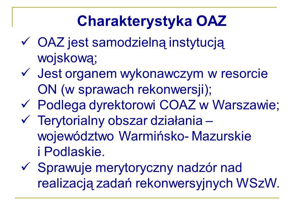 Charakterystyka OAZ OAZ jest samodzielną instytucją wojskową;