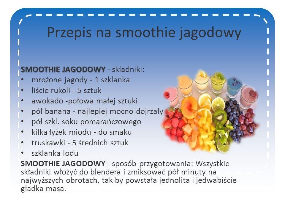 Przepis na smoothie jagodowy