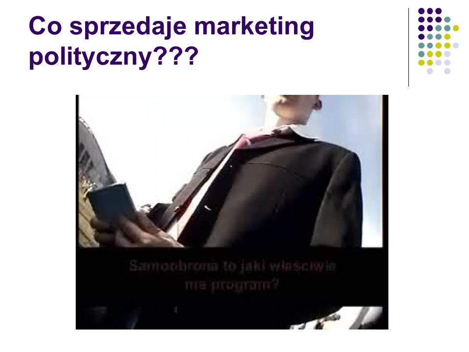 Co sprzedaje marketing polityczny
