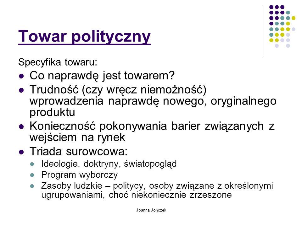 Towar polityczny Co naprawdę jest towarem