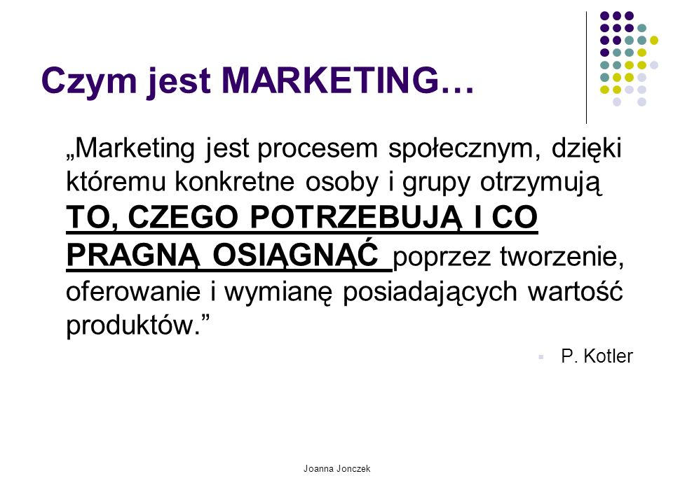 Czym jest MARKETING…