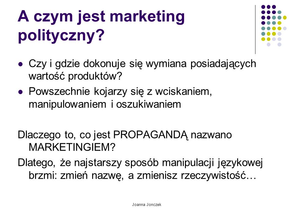 A czym jest marketing polityczny
