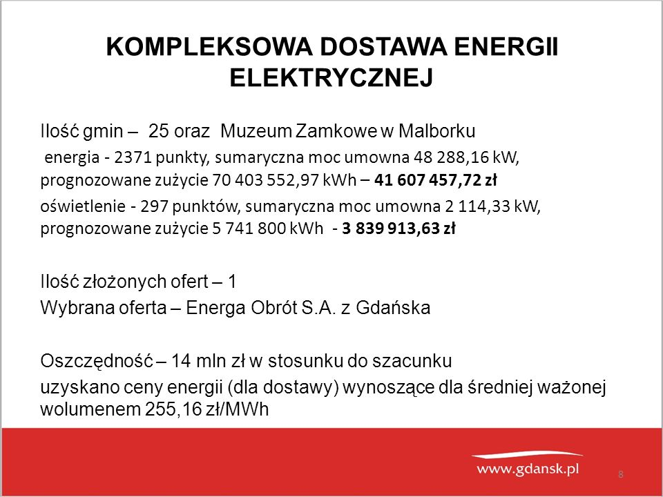 KOMPLEKSOWA DOSTAWA ENERGII ELEKTRYCZNEJ