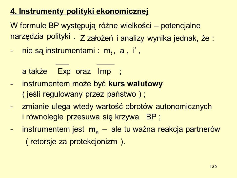 4. Instrumenty polityki ekonomicznej