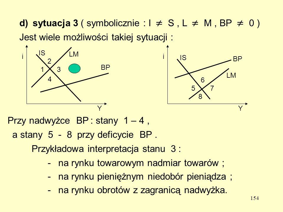 d) sytuacja 3 ( symbolicznie : I  S , L  M , BP  0 )
