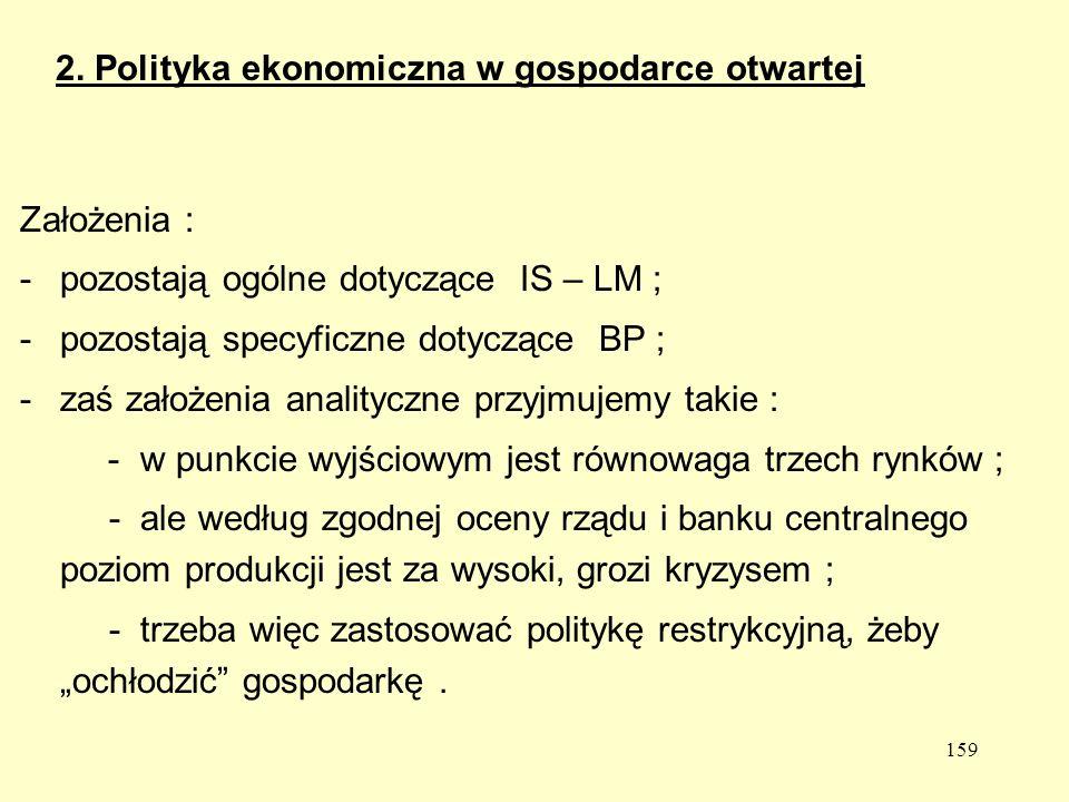 2. Polityka ekonomiczna w gospodarce otwartej