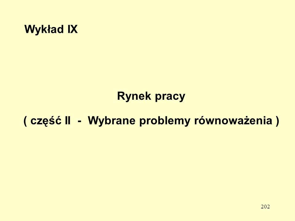 ( część II - Wybrane problemy równoważenia )