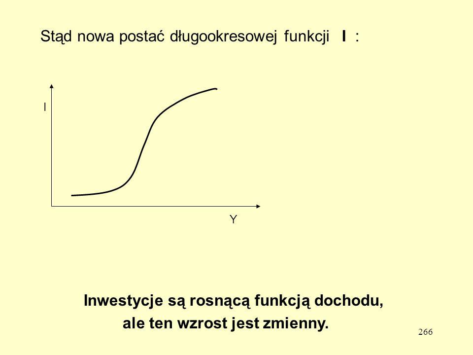Stąd nowa postać długookresowej funkcji I :