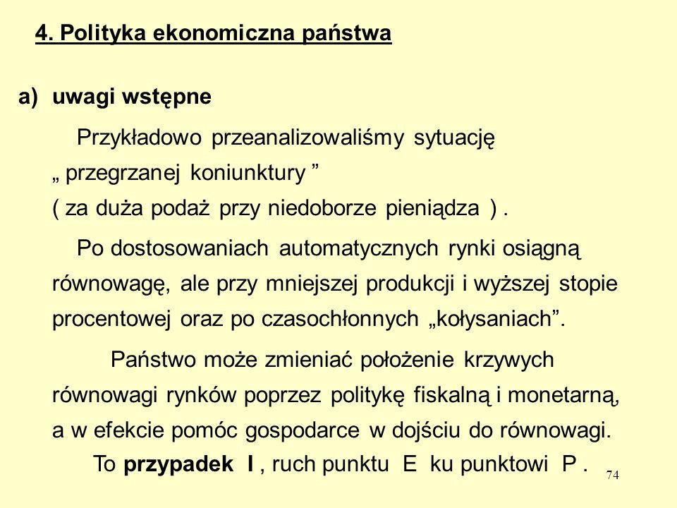 4. Polityka ekonomiczna państwa