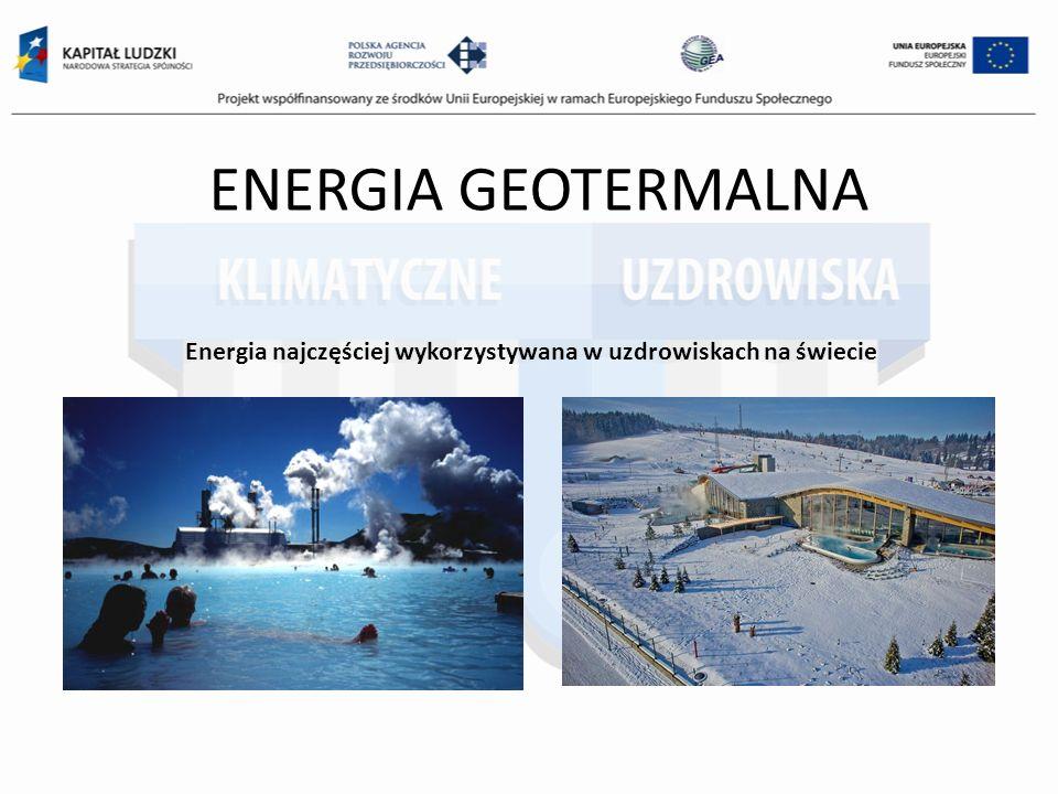 Energia najczęściej wykorzystywana w uzdrowiskach na świecie