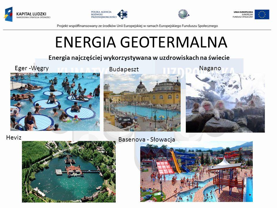 ENERGIA GEOTERMALNA Energia najczęściej wykorzystywana w uzdrowiskach na świecie. Eger -Węgry. Budapeszt.