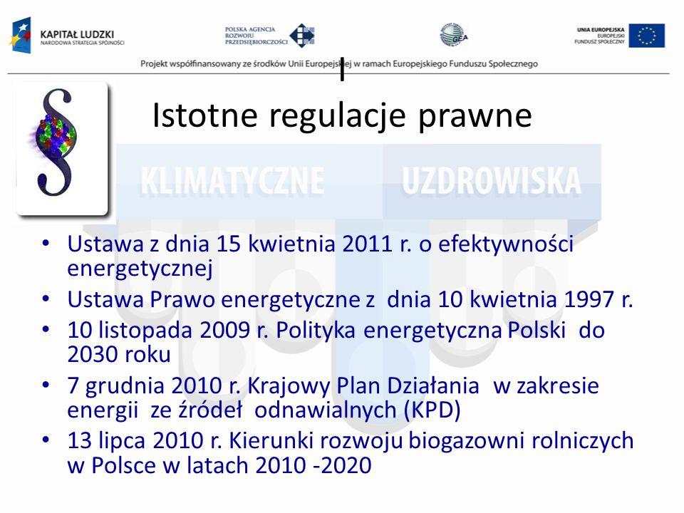 I Istotne regulacje prawne