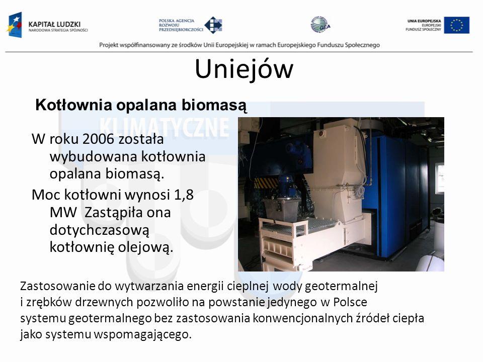 Uniejów Kotłownia opalana biomasą