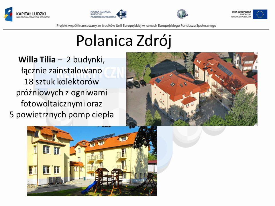 Willa Tilia – 2 budynki, łącznie zainstalowano