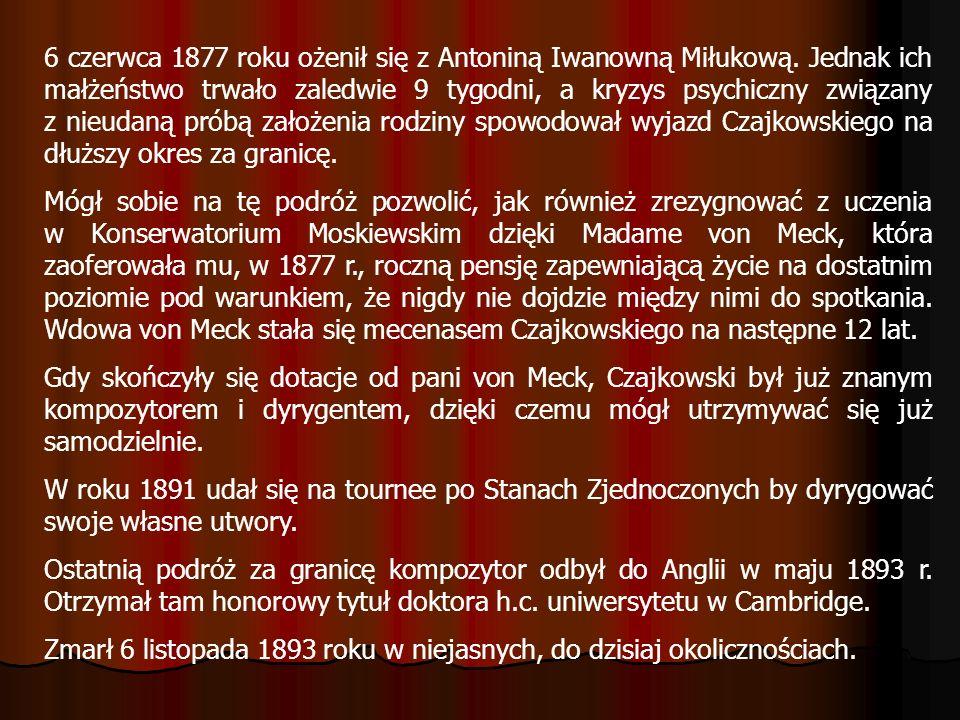 6 czerwca 1877 roku ożenił się z Antoniną Iwanowną Miłukową