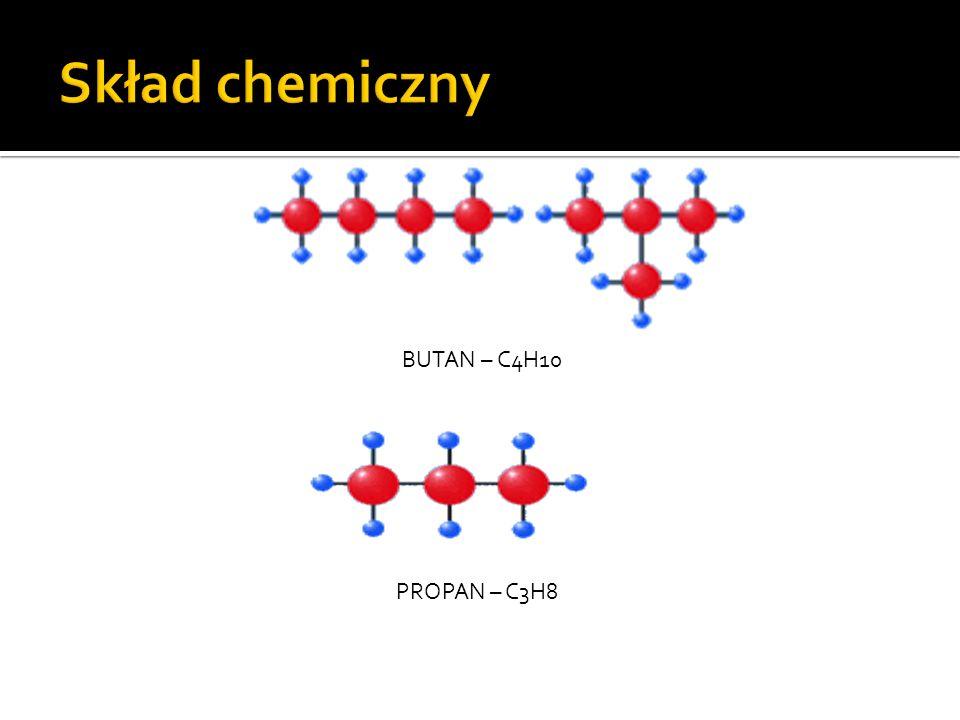 Skład chemiczny BUTAN – C4H10 PROPAN – C3H8