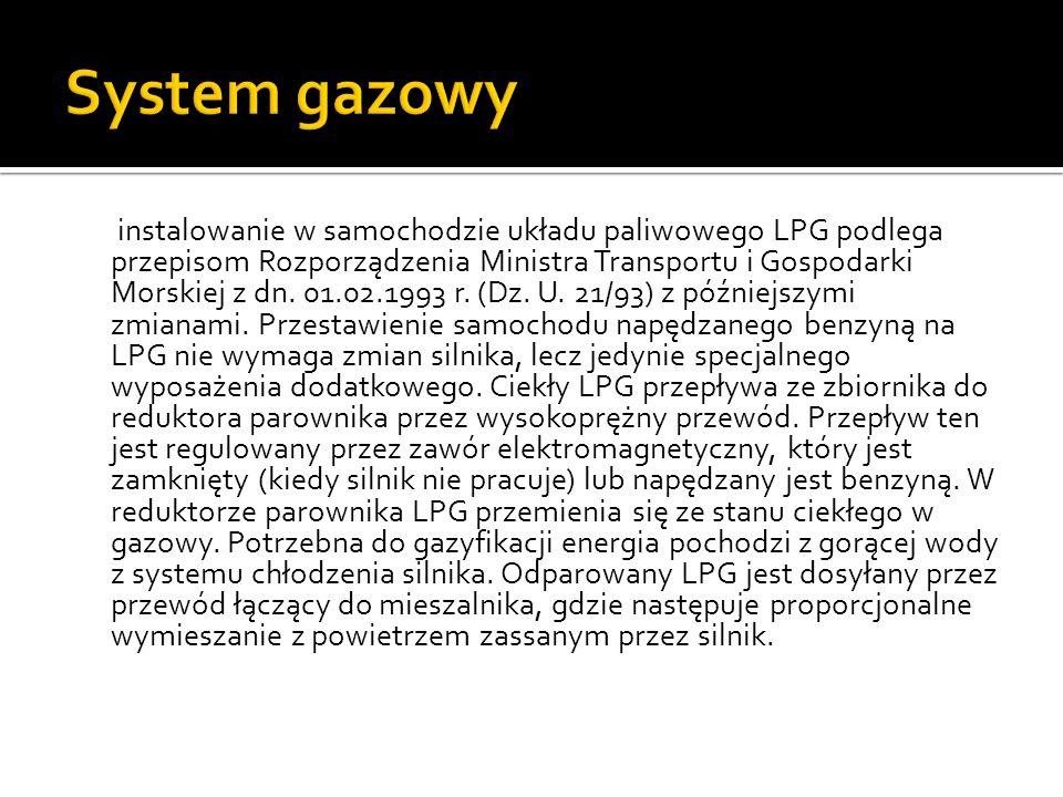 System gazowy