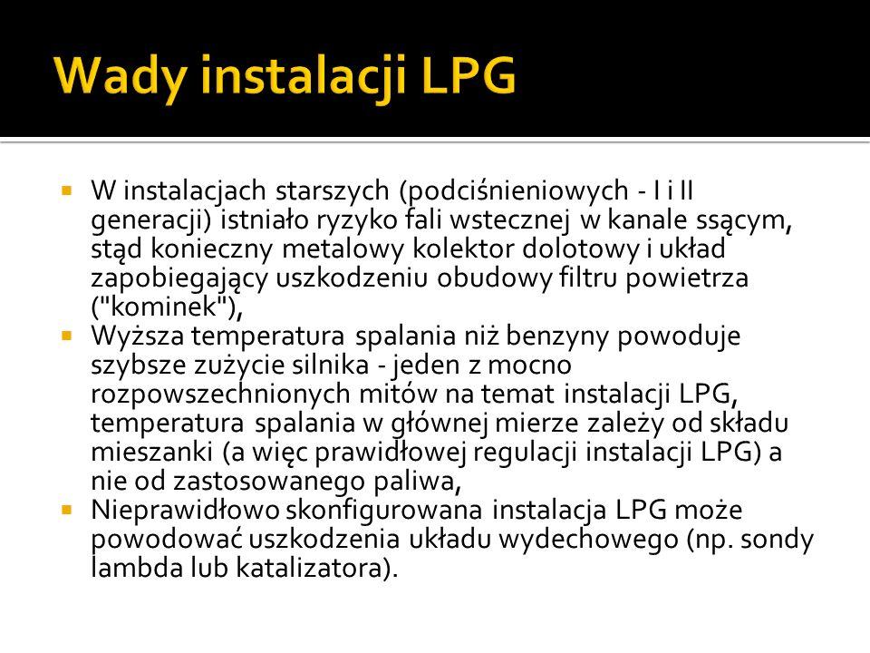 Wady instalacji LPG