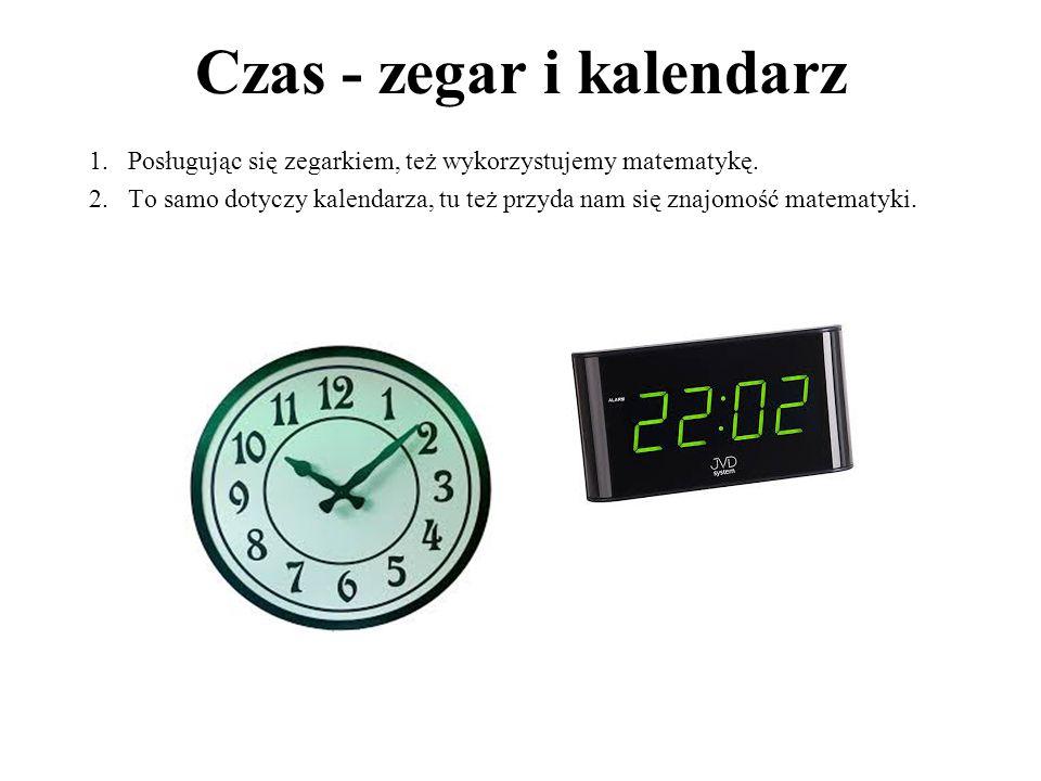 Czas - zegar i kalendarz
